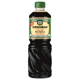 Naturally brewed soy sauce, 43% less salt, 1L