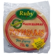 Poppadum Ruby Plain, unfried, 200g