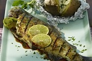 Teriyaki trout with lime