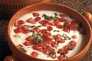 Pomegranate & onion raita